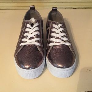 Pewter Metallic Ladies Sneakers